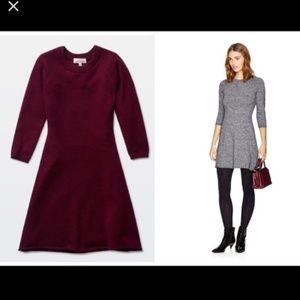 Burgundy Sunday Best a-line sweater dress